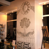 Трафаретная роспись в интерьере современного офиса