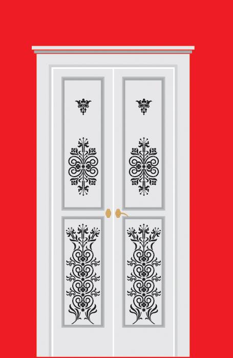 Трафарет для входной двери своими руками 90