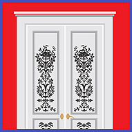 украшаем двери